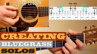 Creating Effective Bluegrass Solos | 3 Concepts – Beginner/Intermediate Guitar Lesson with TAB