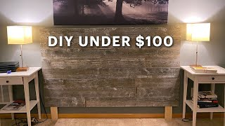Rustic Barn Wood Headboard Easy DIY Build For Under $100