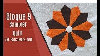 Bloque 9 Sampler Quilt 2019 - Tutorial De Patchwork Dresden Plate Paso A Paso En Español