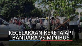 Kecelakaan Kereta Api Bandara Vs Minibus di Simpang SMA 8 Padang, Mobil Putih Remuk