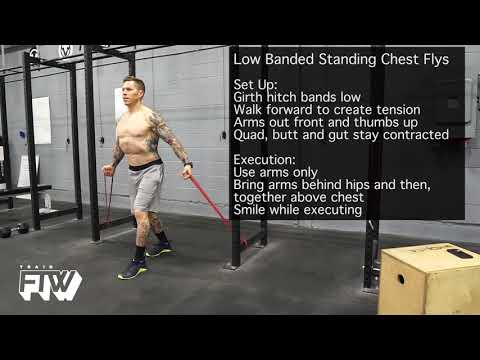 Low Banded Standing Chest Flys