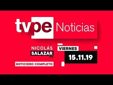 TVPerú Noticias con Nicolás Salazar 15/11/2019