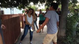 Dinah Jane Hansen dancing with a fan 8/10/15