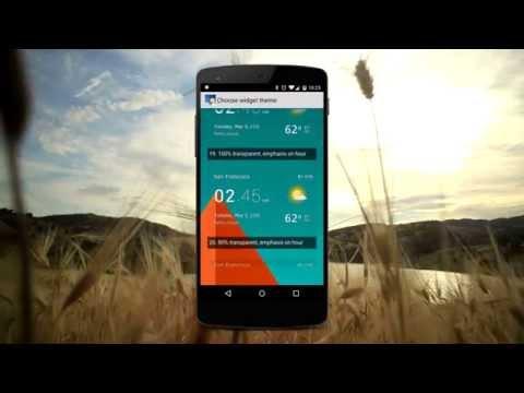 Video of Transparent clock & weather