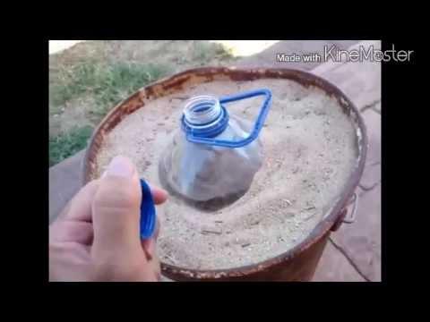 base casera para sombrilla