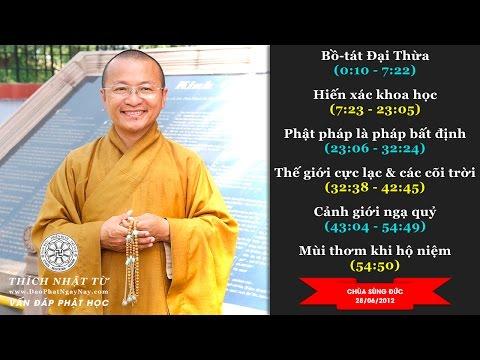Vấn đáp: Bồ Tát Đại Thừa, hiến xác khoa học, Phật pháp là pháp bất định, Thế giới cực lạc và các cõi trời, cảnh giới ngạ quỷ, mùi thơm khi hộ niệm ( 10&28/06/2012) Thích Nhật Từ