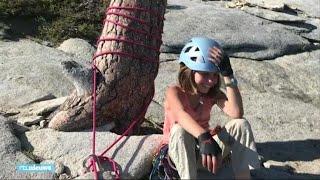 Selah (10) beklimt 900 meter hoge rotswand in Verenigde Staten - RTL NIEUWS
