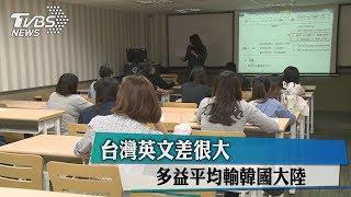 台灣英文差很大 多益平均輸韓國、大陸