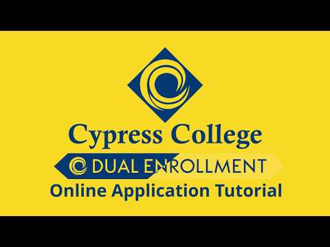 Cypress College Online Application Tutorial