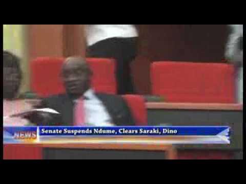 Senate_Suspends Ndume, Clears Saraki, Dino