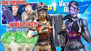 I spectated my custom scrims with my Fortnite duo in REAL LIFE... (emotional)