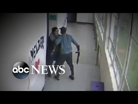 Hero coach confronts student with a gun | ABC News