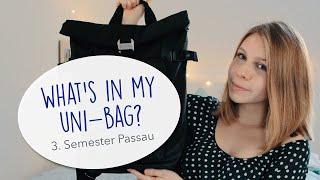 What's in my uni-bag? // Studieren in Passau