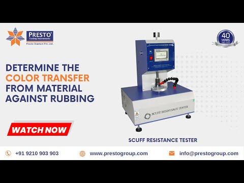 Scuff Resistance Tester