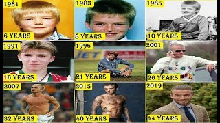 David Beckham Transformation From 0 To 44 Years Old ( 2019 )
