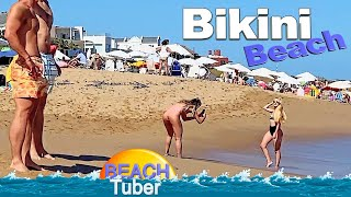 4K VIDEO BEACH WALK Bikini Beach URUGUAY SLOW TV Travel Vlog