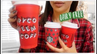 How To Order DAIRY FREE Holiday Drinks At Starbucks!