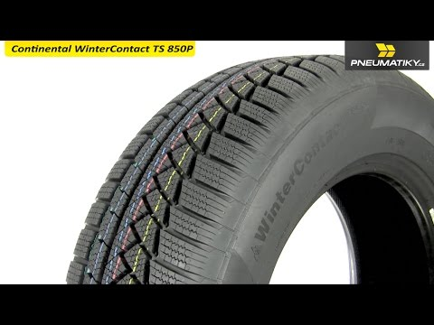 Youtube Continental WinterContact TS 850P SUV 235/55 R19 105 H XL FR Zimní