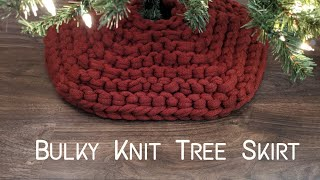 Bulky Knit Christmas Tree Skirt | Step-by-Step Knitting Tutorial | Knitting House Square