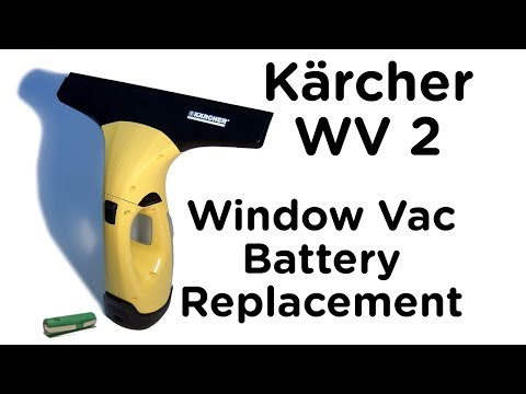 Karcher Window Vac WV2 Battery Replacement Guide