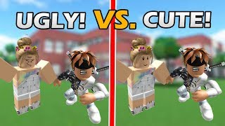 UGLY vs. PRETTY IN ROBLOX - ROBLOX SOCIAL EXPERIMENT