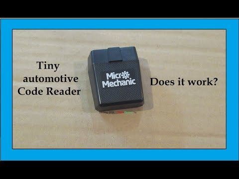Tiny Micro Mechanic Automotive Code Reader test and review.