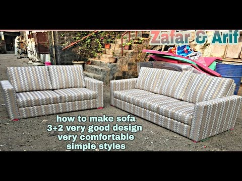 #uniquedesign How To Make Sofa New Design  3+2 Made By ABKN FURNITEC Very Stylish Design