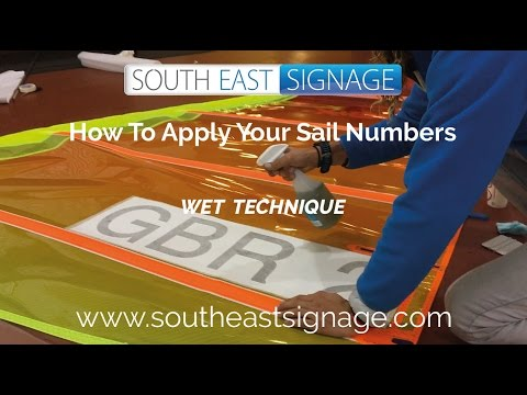 How to apply your windsurfing sail sticker with the wet technique