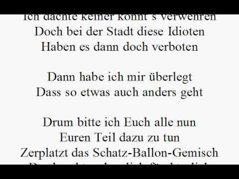 Gedicht zum 60. Geburtstag - 99 Luftballons - Geldgeschenk