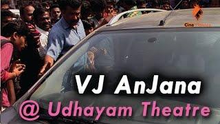 Sun Music VJ Anjana @ Udhayam Theatre - Anegan movie | Dhanush | Karthik | K. V. Anand