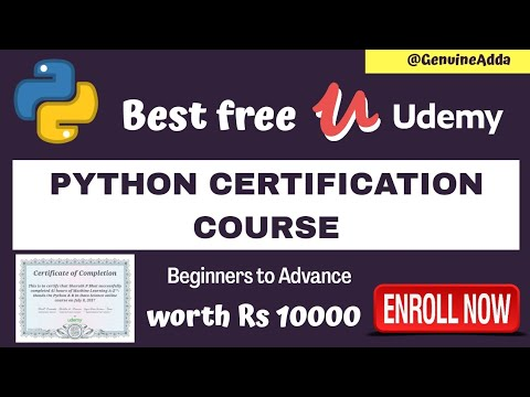 Best free Python certification course on udemy| worth Rs ... - YouTube