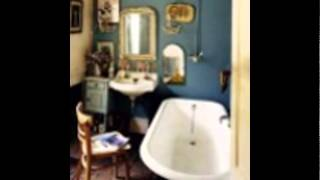bohemian-bathroom-decor-corner-bathtub-for-small-bathroom