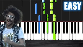 LMFAO - Party Rock Anthem - EASY Piano Tutorial by PlutaX