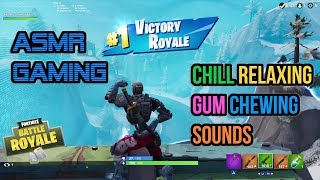 ASMR Gaming   Fortnite Cyborg Chill Relaxing Gum Chewing Sounds 🎮Controller Sounds + Whispering😴💤