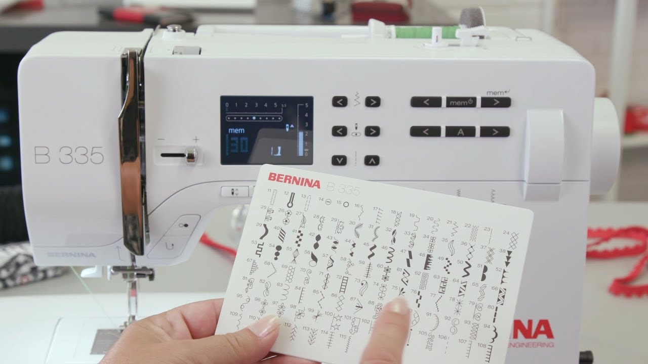 Combining stitches and saving stitch combinations with the BERNINA 335