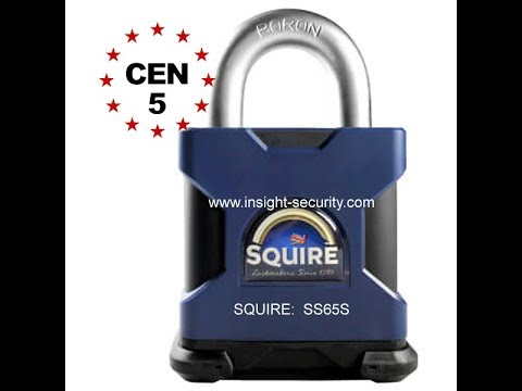 Introducing the Squire SS65S High Security Open Shackle Padlock