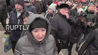 LIVE: Protests in Kemerovo over lack of safety after shopping centre fire