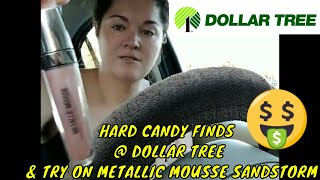 HARD CANDY MAKEUP HAUL @ DOLLAR TREE & SANDSTORM TRY ON