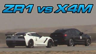 BMW X4m vs 2019 ZR1 Corvette