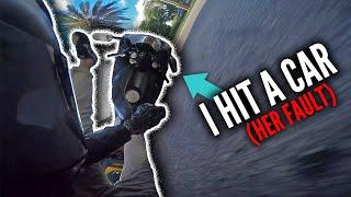 The Hit & Run + MOTORCYCLE vs CAR (CRASH) Biker STILL vlogs - RPSTV