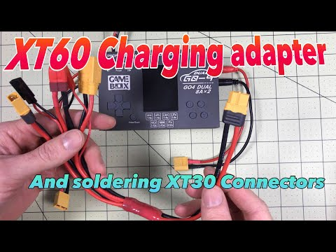 XT60 power splitter so you can charge any battery.  And how to solder an XT30 connector.
