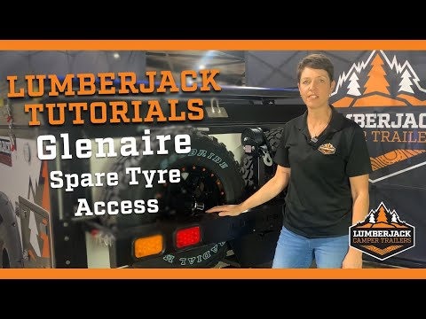 Glenaire Ultra Light Spare Tyre Access