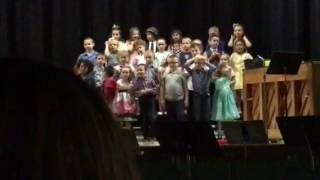 Elizabeth Kindergarten Choir concert 3 - chocolate bunny