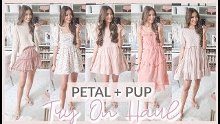 PETAL AND PUP TRY ON HAUL | CUTEST SPRING + SUMMER OUTFITS 2020 🌸