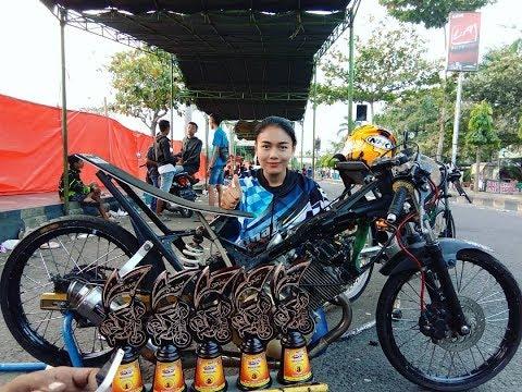 Santy Ms Podiun 1 Satria Fu 200cc Tune Up Terkencangnya Drag Bike