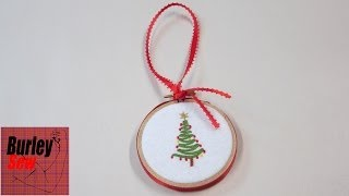 Last Minute Embroidery Hoop Christmas Ornament And Holiday Wishes