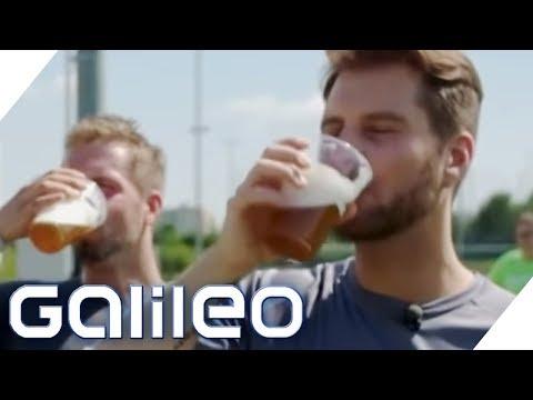 Mehr Energie durch alkoholfreies Bier? Sportgetränke im Selbstversuch | Galileo | ProSieben