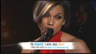 Alicia Keys Brand New Me 121212concert hurricane Sandy
