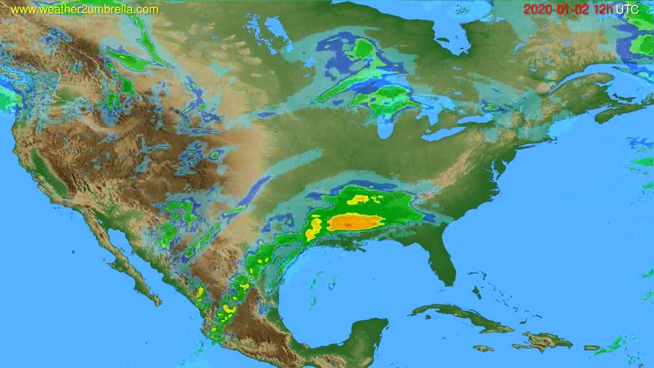 Radar forecast USA & Canada // modelrun: 00h UTC 2020-01-02