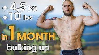 +4,5kg (10 lbs) in 1 MONTH | Eating Day